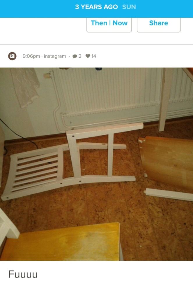 trasig stol