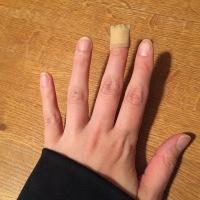 Skar nästan av mig fingret
